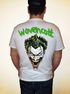 joker madness handmade paint tshirt