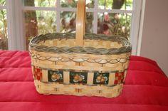Handmade basket  /  hand painted basket  /  by Cheapvintagefashion, $50.00 https://www.etsy.com/listing/105552561/handmade-basket-hand-painted-basket-farm?ref=shop_home_active