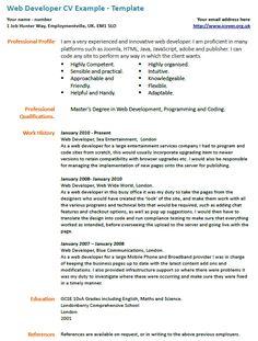 35 best online cv resume templates pinterest online cv and template