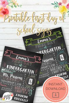 DIY Printable First