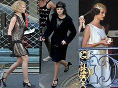 "Check out some pictures from the ""Midnight in Paris"" set and the actors looking like they came right out of the 20s:"