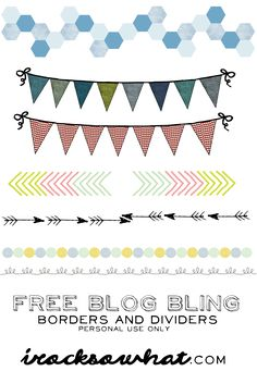 Free Blog Bling, to spruce up your photos and whatnot.  (5/10/2013)