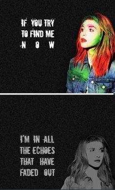 Paramore | Escape Route lyrics