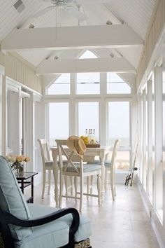 Coastal Dining Space with an open view of the ocean