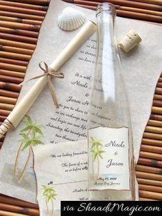 Click Pic for 26 DIY Beach Wedding Ideas - DIY Bottle Invitation - Beach Theme Wedding Decorations Wedding Invitation Samples, Beach Wedding Invitations, Wedding Stationery, Invitation Ideas, Invitation Templates, Invites, Wedding Cards, Diy Wedding, Dream Wedding