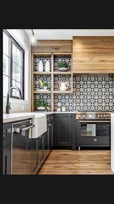Home Decor Kitchen, Diy Kitchen, Kitchen Furniture, Kitchen Interior, Kitchen Ideas, Diy Furniture, Design Kitchen, Teal Kitchen, Interior Modern