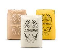 Flour packaging design and Branding for an Italian mill Rice Packaging, Cheese Packaging, Bread Packaging, Bakery Packaging, Cool Packaging, Food Packaging Design, Coffee Packaging, Packaging Design Inspiration, Branding Design