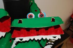 Egg Cartoon crocodile
