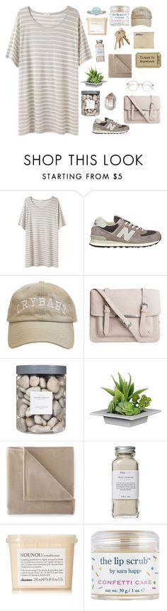 """Dream set"" by emilymettas ❤ liked on Polyvore featuring 6397, New Balance, Pieces, Threshold, Martex, Polaroid, Très Pure, Davines and Sara Happ"