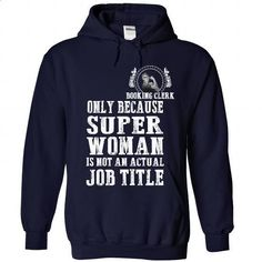 Booking Clerk - #tee aufbewahrung #boyfriend sweatshirt. BUY NOW => https://www.sunfrog.com/LifeStyle/Booking-Clerk-9212-NavyBlue-Hoodie.html?68278