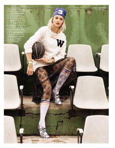 visual optimism; fashion editorials, shows, campaigns & more!: cancha a la moda: luisa hartema by sebastian briech for grazia spain 12th march 2014