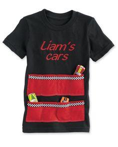 boys personalized racecar tee