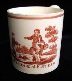 Creamware Child's Mug ~ A Pledge of Esteem 1820