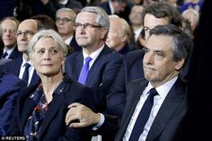 French presidential candidate's wife appears with him in public