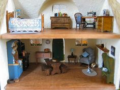 Full view on inside of house by Wyld_Hare, via Flickr-1:48 scale