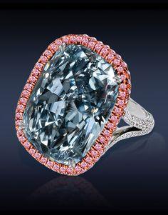 From Jacob & Co: 30,11 CT Natural Fancy Blue Gray Cushion Cut Diamond (VVS2)