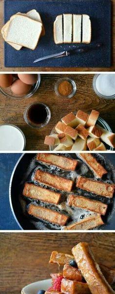 Home made french toast sticks
