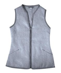 MO-VEST, Silver Grey – Vespertine NYC Animal Fibres, Garment District, Cool Style, Vest, Downy, Triangles, Stylish, Night Time, Grey