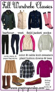 Fall Wardrobe Classics