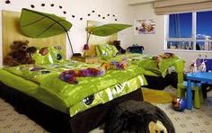 Bedroom, Designing Kids Bedroom Ideas with Certain Themes: Lovely Kids Bedroom With Nature Theme