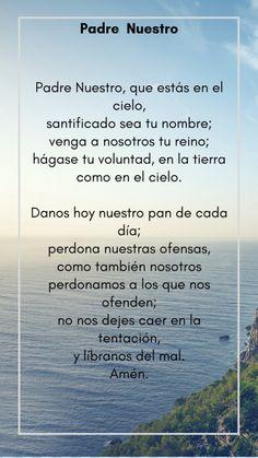 Prayer For Calmness, Prayer For Grief, Prayer For Love, Prayer For Guidance, God Prayer, Prayer Quotes, Bible Verses Quotes, Holy Father Prayer, Catholic Prayers In Spanish