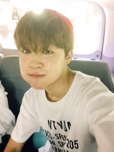 """BTS Tweet - Jimin (selca) 150527 -- 오늘 녹화도 너무너무 즐거웠어요 오늘도 고마워요 조심히 들어가세요 #내볼에는_먹을게_한가득 #JM  --  [TRANS]  """"Today's recording was really really fun too. Thank you for today as well. Go back home safely. #I_have_a_mouthful_of_food_in_my_cheeks #JM""""  --cr: ARMYBASESUBS · @BTS_ABS"""