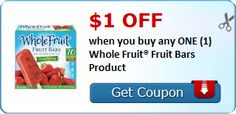 New Coupon!  $1.00 OFF when you buy any ONE (1) Whole Fruit® Fruit Bars Product! - http://www.stacyssavings.com/new-coupon-1-00-off-when-you-buy-any-one-1-whole-fruit-fruit-bars-product/