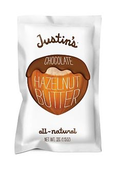 Justin's Hazelnut Butter--- my newest favorite indulgence.  I like it better than Nutella (even Nutella from Italy)!