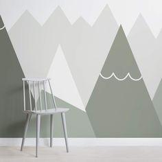 kids sage mountains wallpaper mural