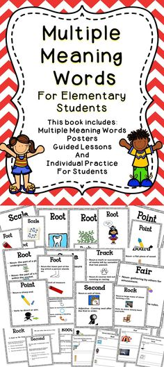 Multiple Meaning Words - A great resource for teaching words with multiple meanings. This literacy tool will be a great addition to the language arts classroom. #tpt #literacy