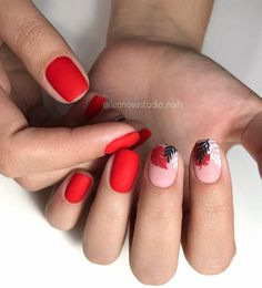 types of nail shapes Oval Faces - Nageltypen Red Nails, Hair And Nails, Color Nails, Cute Nails, Pretty Nails, Types Of Nails Shapes, Nails Types, Red Nail Designs, Pedicure Nail Art