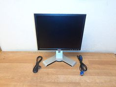 """DELL 1708FPT 17"""" WideScreen LCD Monitor Black w/VGA Video Cable WORKING"""