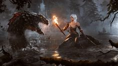 Download Ciri the Witcher 3 Wild Hunt Game Art Girl Fantasy Dragon 1920x1080