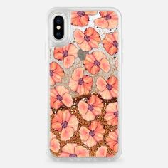 Casetify iPhone X Liquid Glitter Case - California Poppy by ChristineMay