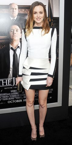 Look of the Day - October 4, 2014 - Leighton Meester in Balmain from #InStyle