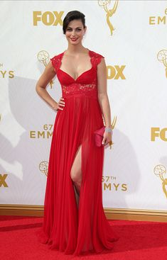 Actress Morena Baccarin arrives at the 67th Annual Primetime Emmy Awards at the Microsoft Theater on September 20 2015 in Los Angeles California