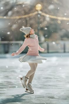 La nostalgie de l'hiver lorsque la neige tombe au moment que tu patines