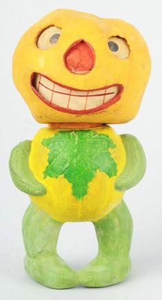 Veggie Man Jack-O-Lantern Candy Container. I know I'm showing my ignorance but who the heck was Veggie Man???