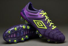 Umbro Football Boots - Umbro UX1 Concept FG - Firm Ground - Soccer Cleats - Blackberry Cordial-Safety Yellow