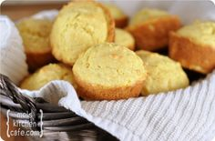 Cornbread in muffin form equals the perfect side dish to just about anything! These cornbread muffins are moist, flavorful, and they come together quickly.