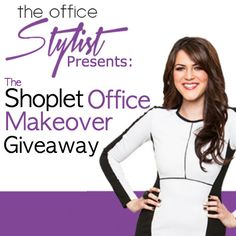 Here's a sneak peek at what you could with with Shoplet's Office makeover Giveaway event with The Office Stylist coming soon.  http://blog.shoplet.com/office-supplies/the-office-stylists-shoplet-office-makeover-giveaway/