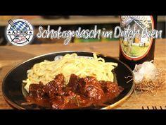 Feines Schokogulasch aus dem Dutch Oven #230 - YouTube Bbq, Dutch Oven, Meat, Youtube, Food, Recipies, Barbecue, Iron Pan, Barrel Smoker
