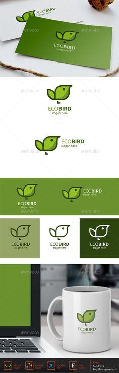 EcoBird Logo  EPS Template • Download ↓ https://graphicriver.net/item/ecobird-logo/13266930?ref=pxcr