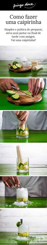 Saiba como fazer uma caipirinha refrescante e doce.