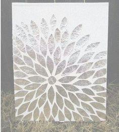Schilderij met zilverfolie
