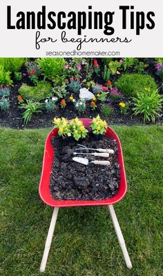 Landscaping for Beginners: Most people never begin a new landscape because they don't know where to start. I Have 8 Landscaping Tips for Gardening Beginners that will teach you How to Landscape.  gardening   gardens   landscaping #seasonedhome