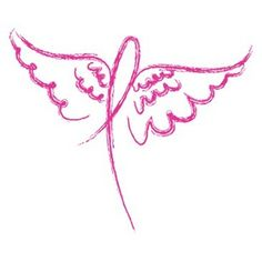 Angel Wings Pink Ribbon Breast Cancer Awareness