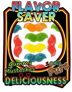 flavor saver gummy mustaches