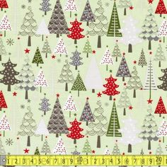 A Merry Little Christmas Trees Green