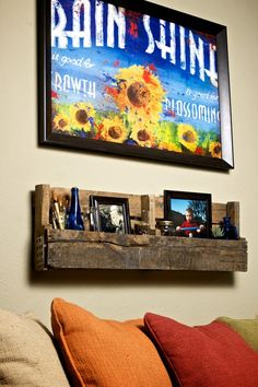 Reclaimed Lumber Display Shelves Made upon by IndianSummerGardens